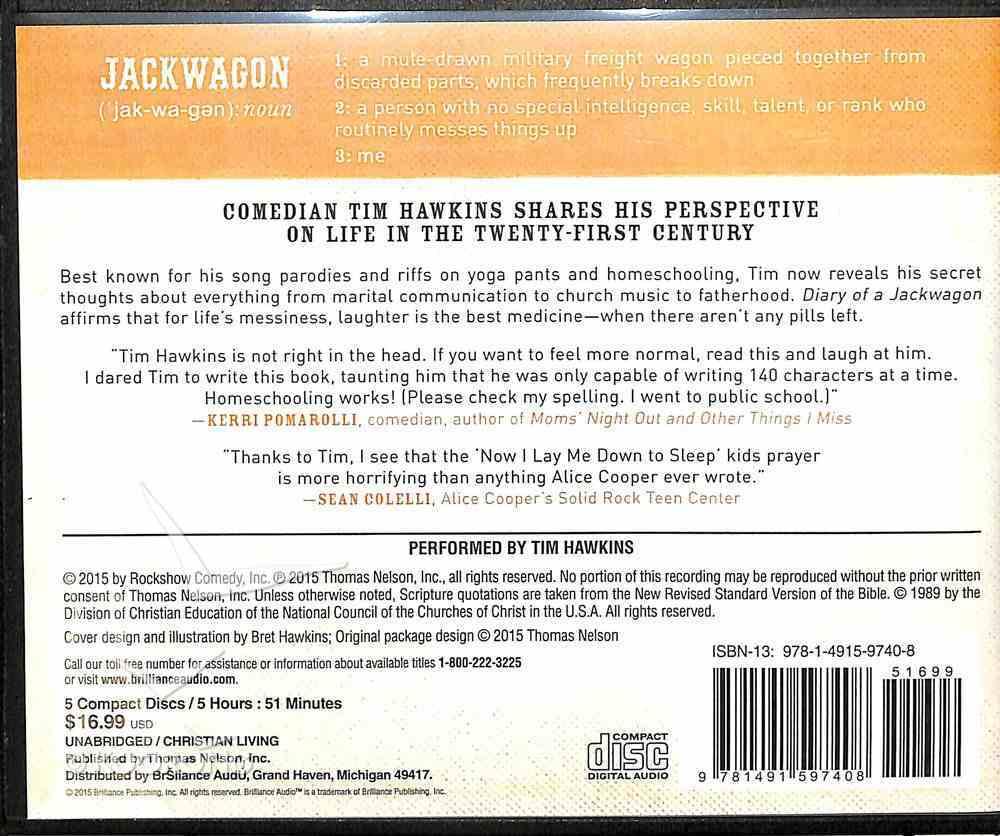 Diary of a Jackwagon (Unabridged, 7 Cds) CD