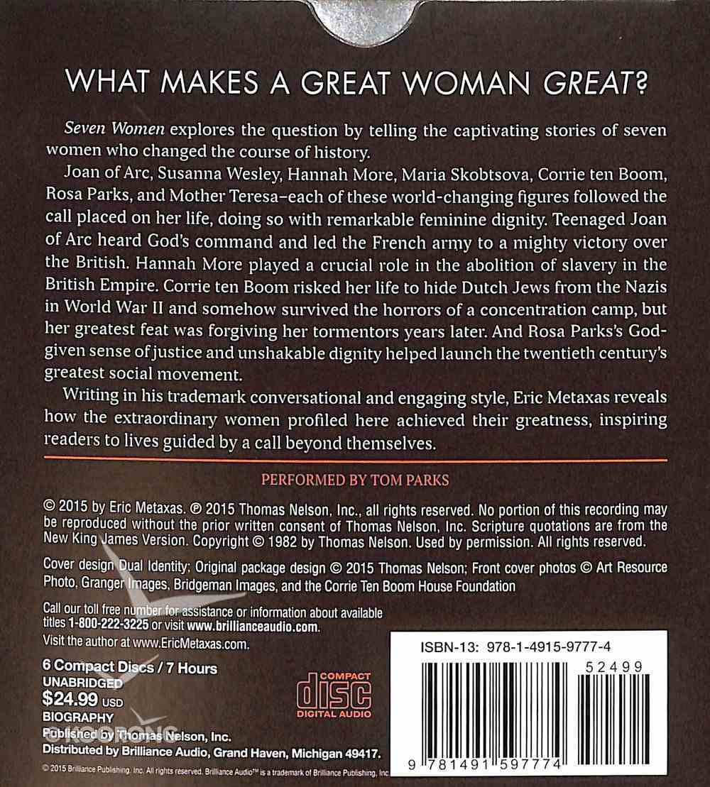 Seven Women: And the Secret of Their Greatness CD
