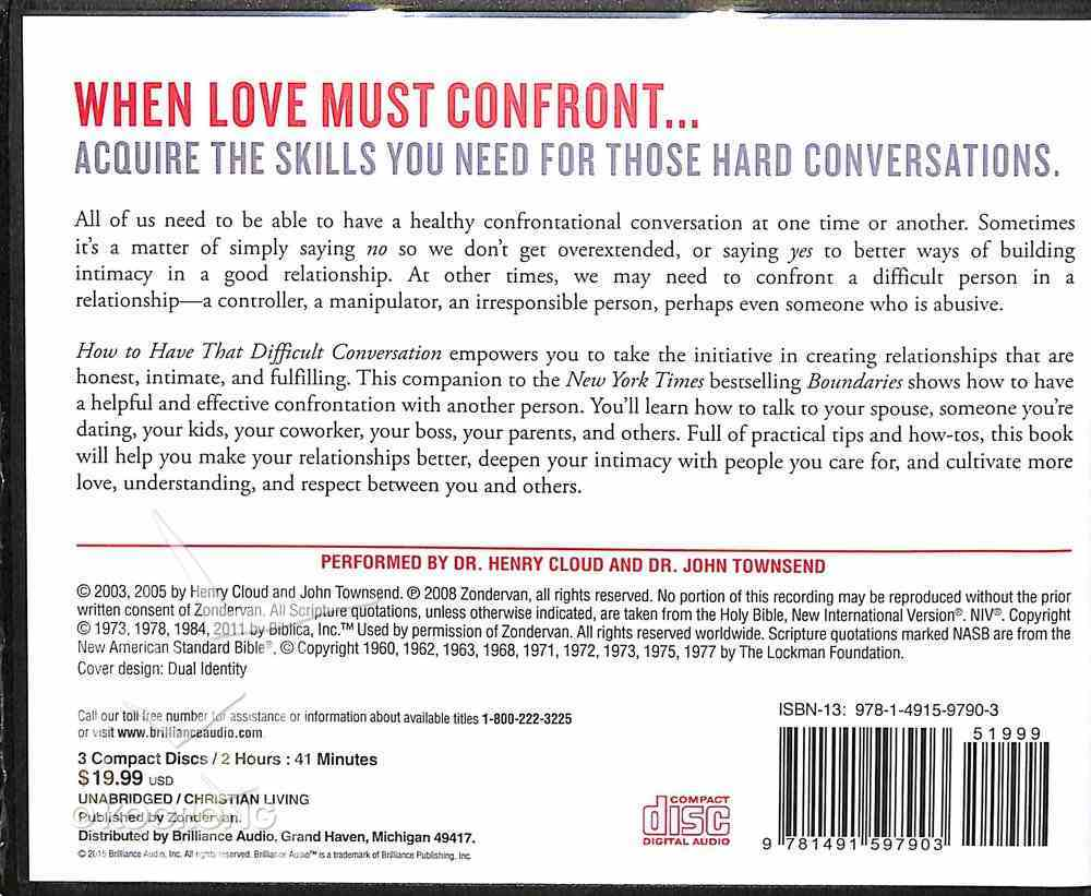 How to Have That Difficult Conversation (Unabridged, 10 Cds) CD