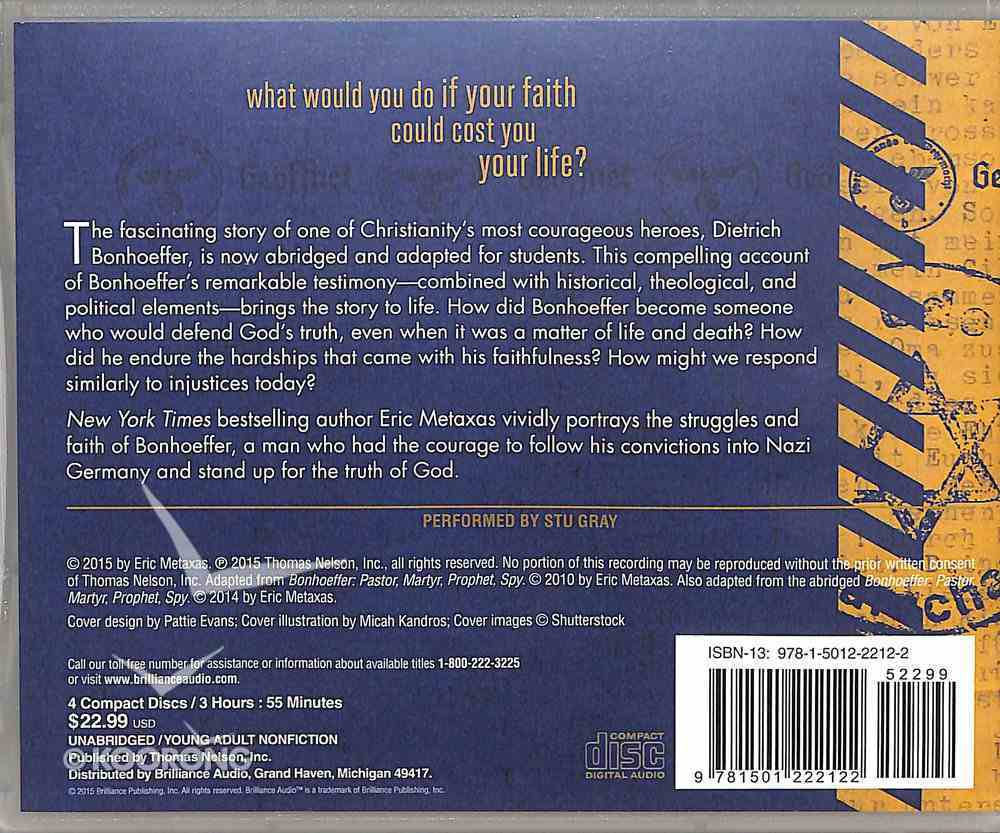 Bonhoeffer Student Edition (Unabridged, 7 Cds) CD