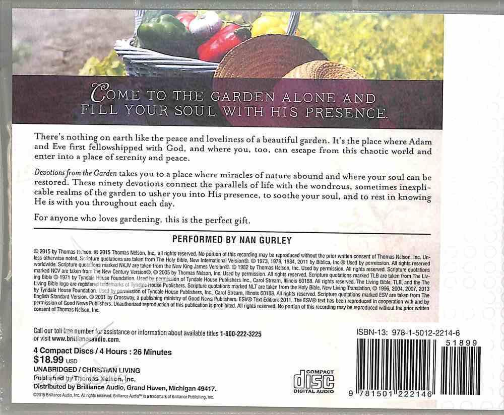 Devotions From the Garden (Unabridged, 4 Cds) CD