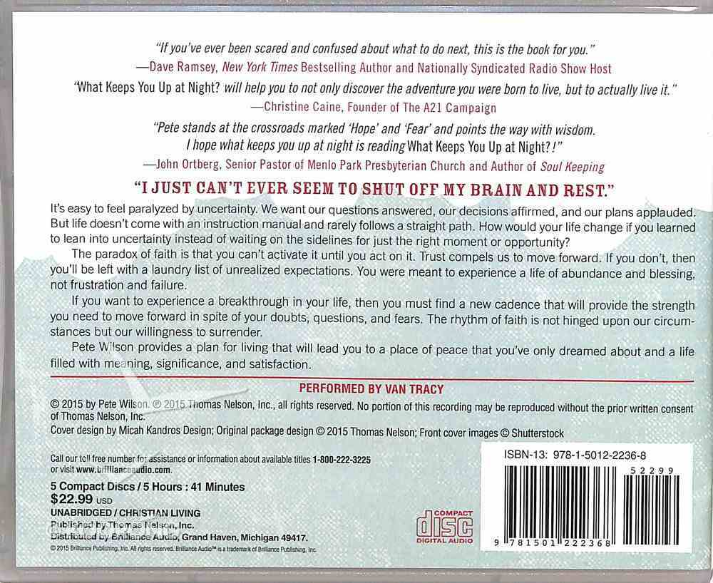 What Keeps You Up At Night? (Unabridged, 7 Cds) CD