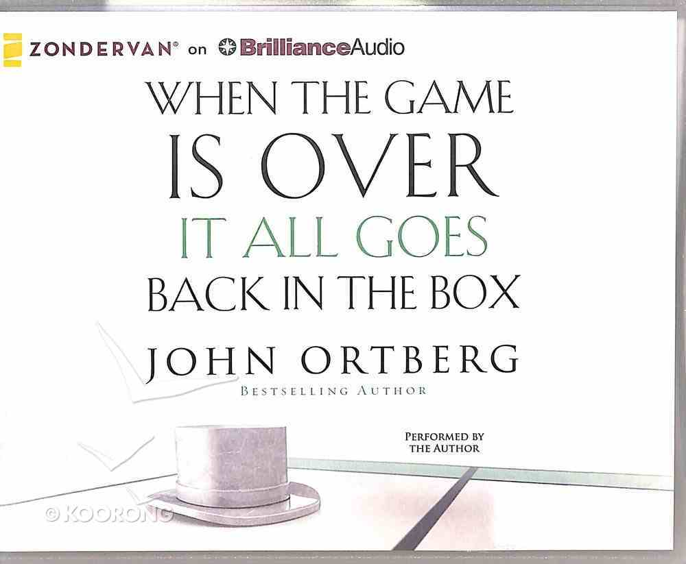 When the Game is Over (Unabridged, 5 Cds) CD