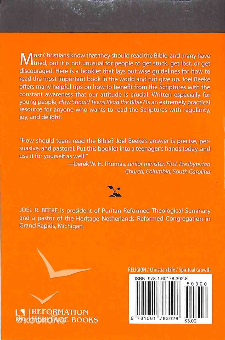 How Should Teens Read the Bible? (#03 in Cultivating Biblical Godliness Series) Booklet