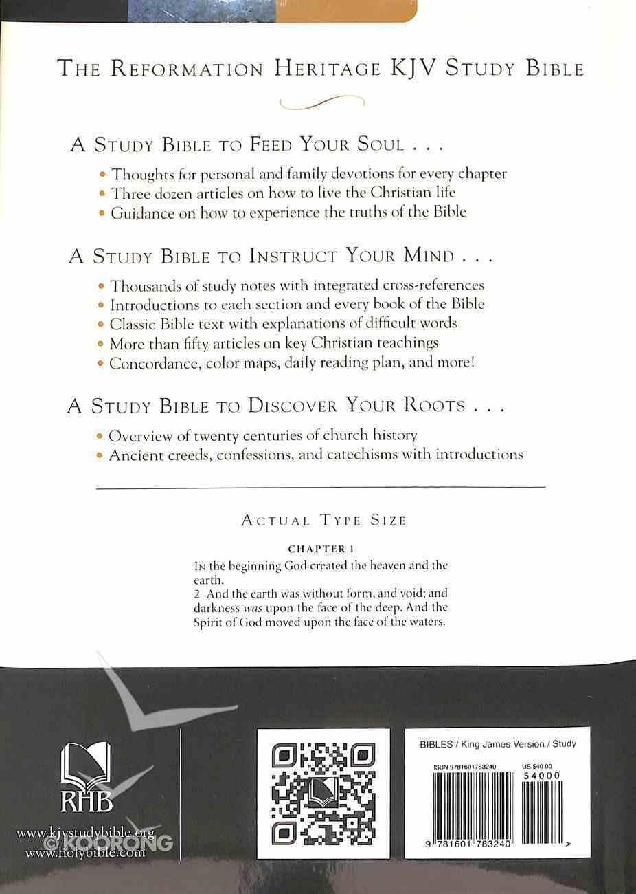 KJV Reformation Heritage Study Bible Hardback