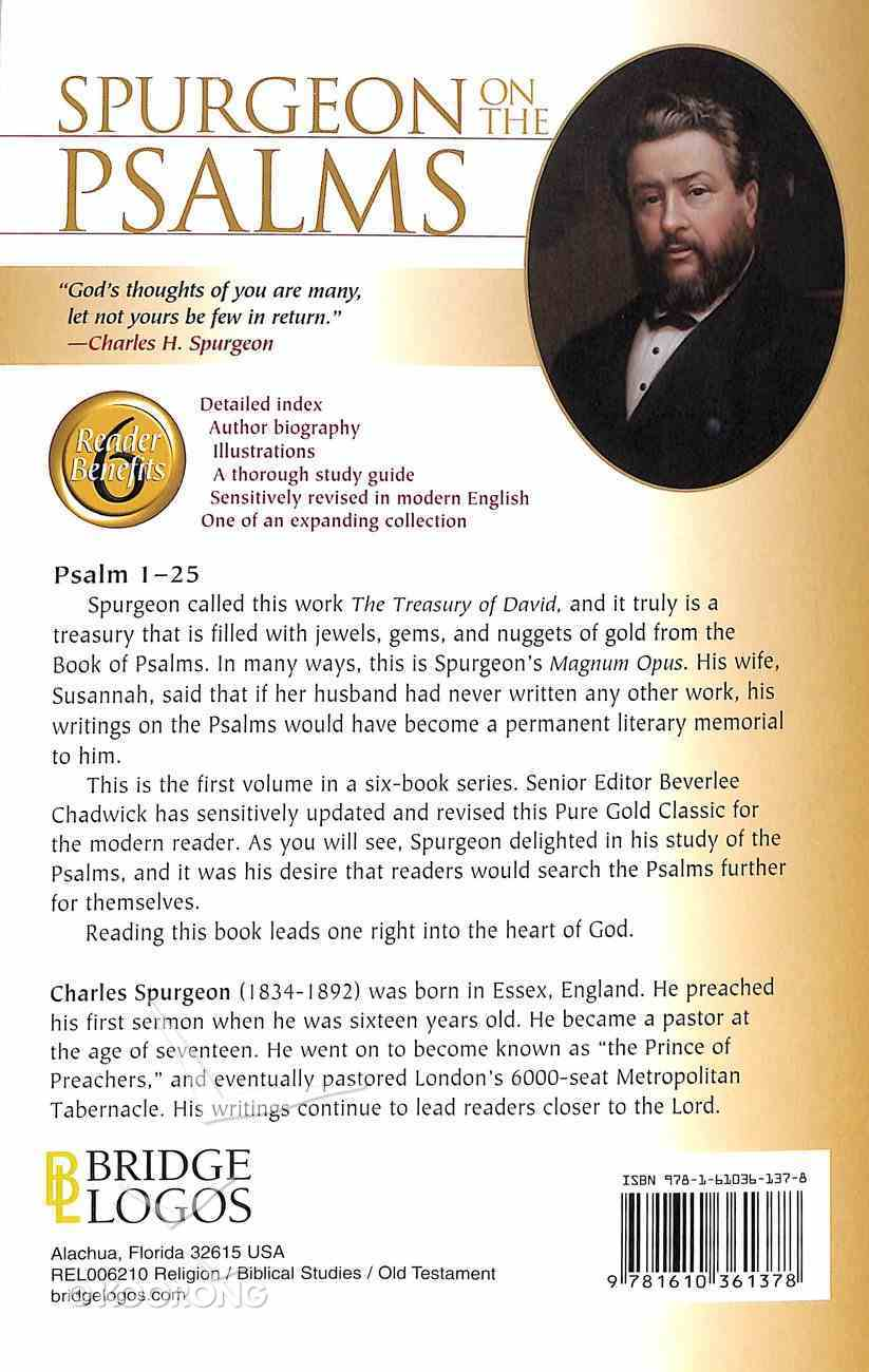 Pgc: Spurgeon on the Psalms #01: Psalm 1-25 (#01 in Spurgeon On The Psalms Series) Paperback
