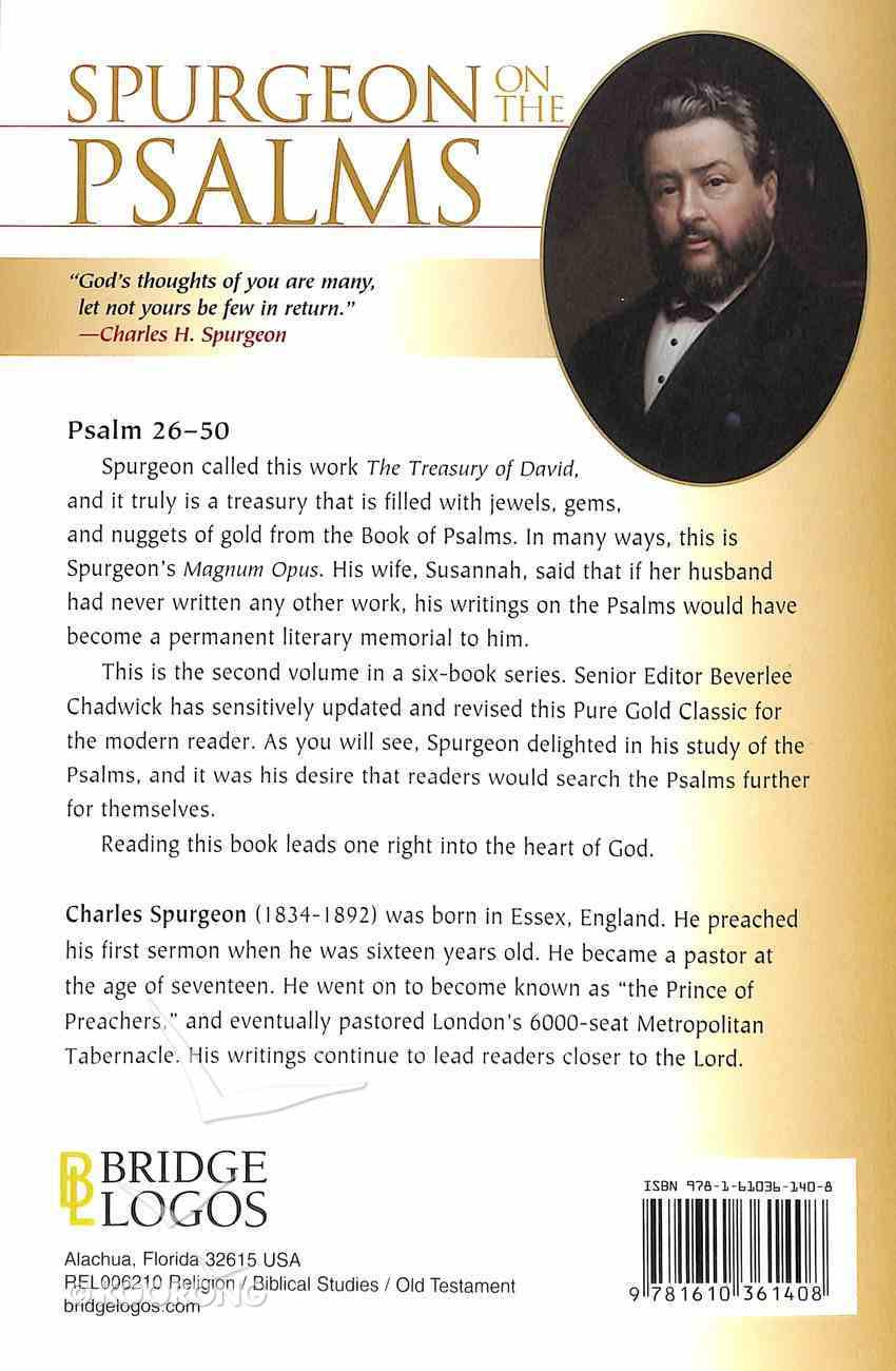 Pgc: Spurgeon on the Psalms #02: Psalm 26-50 (#02 in Spurgeon On The Psalms Series) Paperback