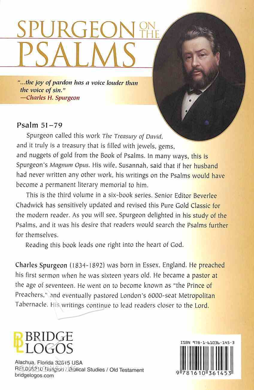 Pgc: Spurgeon on the Psalms #03: Psalm 51-79 (#03 in Spurgeon On The Psalms Series) Paperback