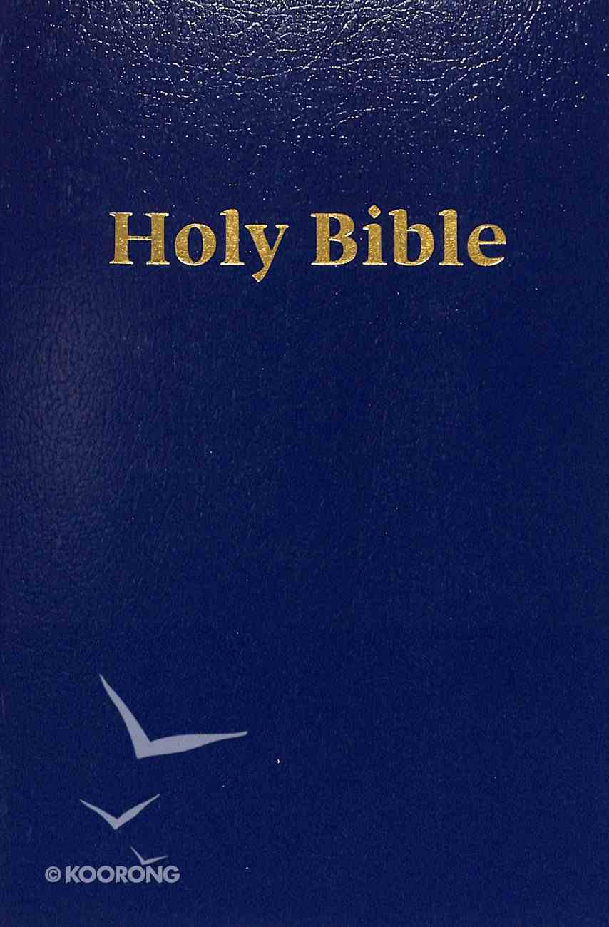 ERV Large Print Holy Bible Blue Softcover Paperback