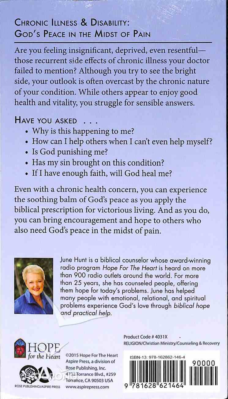 Chronic Illness & Disability (Hope For The Heart Series) Paperback