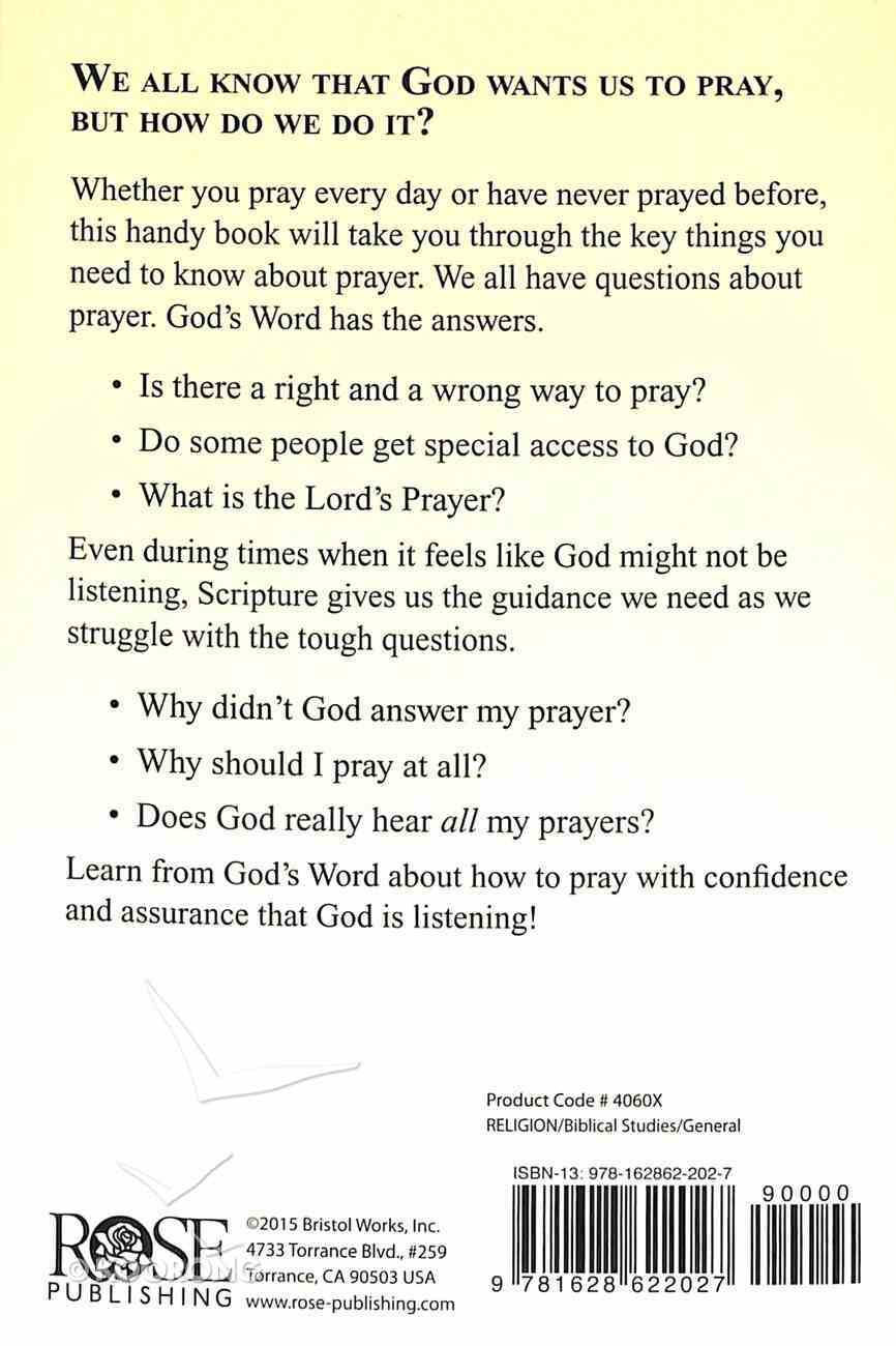 What the Bible Says About Prayer Paperback