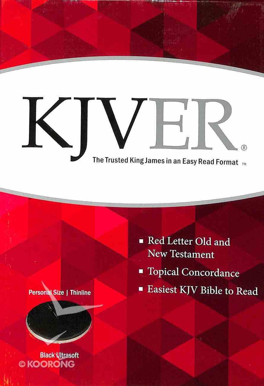 Kjver Thinline Personal Size Black Ultrasoft Imitation Leather