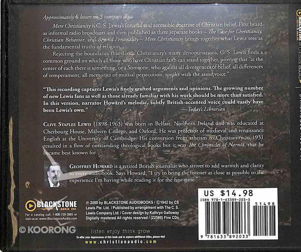 Mere Christianity (Unabridged, 5 Cds) CD