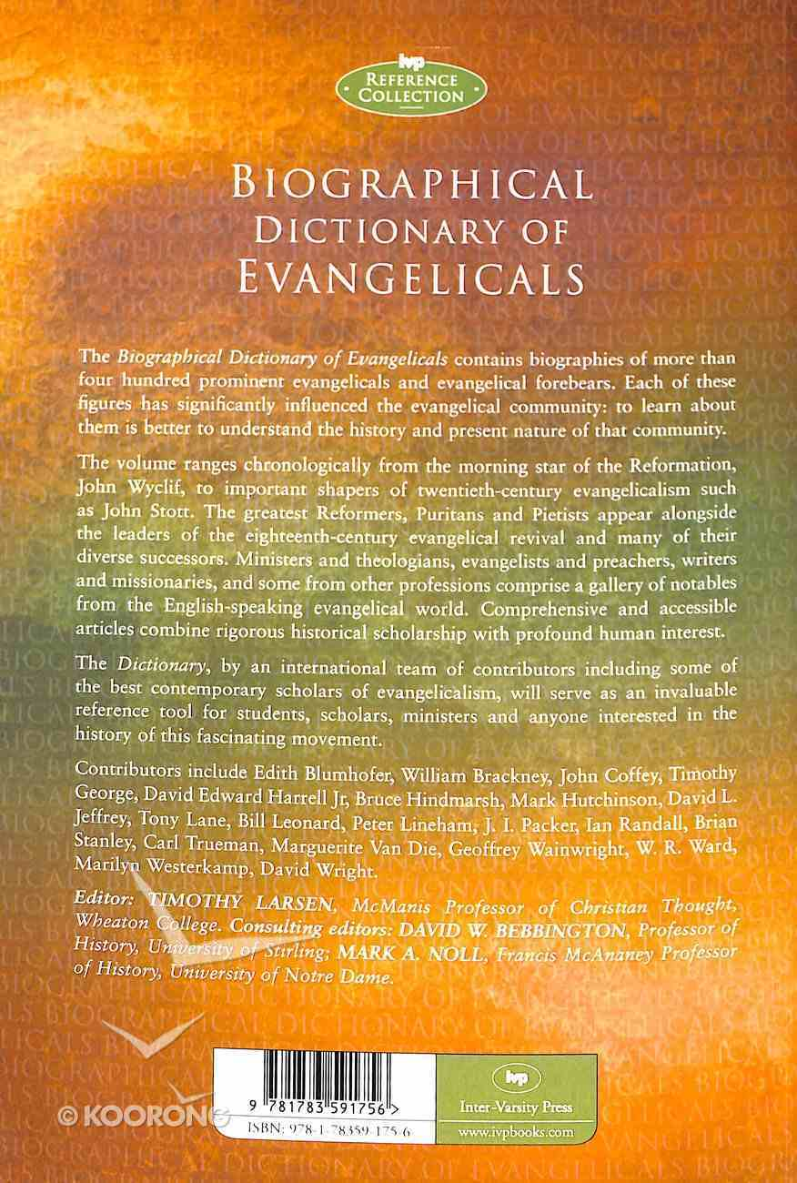 Biographical Dictionary of Evangelicals Paperback