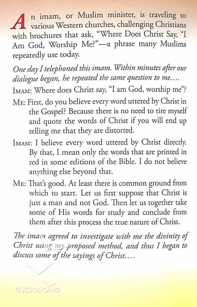 "Where Does Christ Say, ""I Am God, Worship Me?"" (#101 in Gospel For All Nations Series) Booklet"