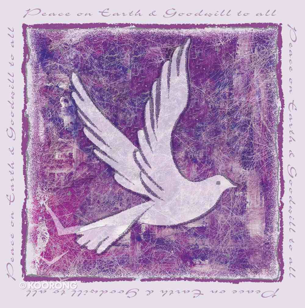 Christmas Boxed Cards: Peace on Earth & Goodwill to All (Dove/purple) Box