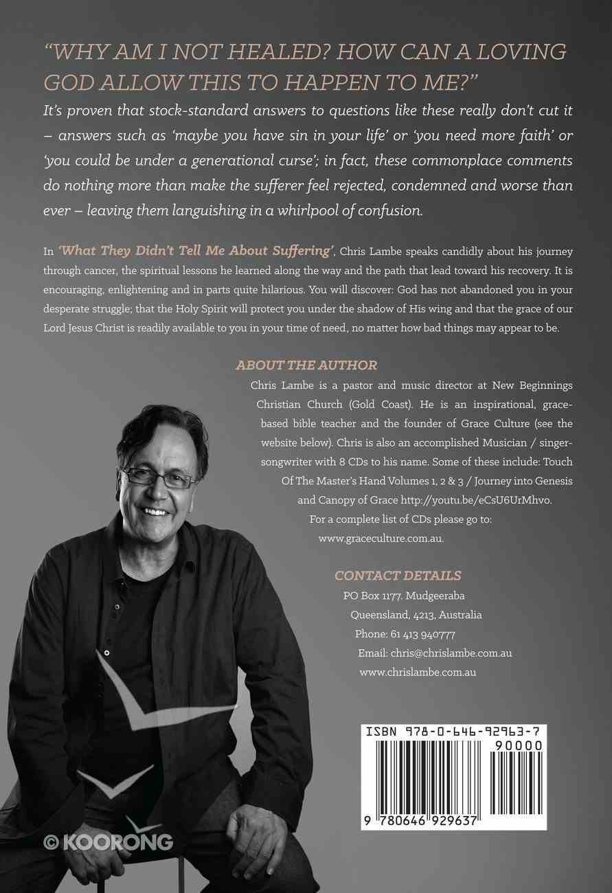 What They Didn't Tell Me About Suffering: The Unseen Road to Recovery Paperback