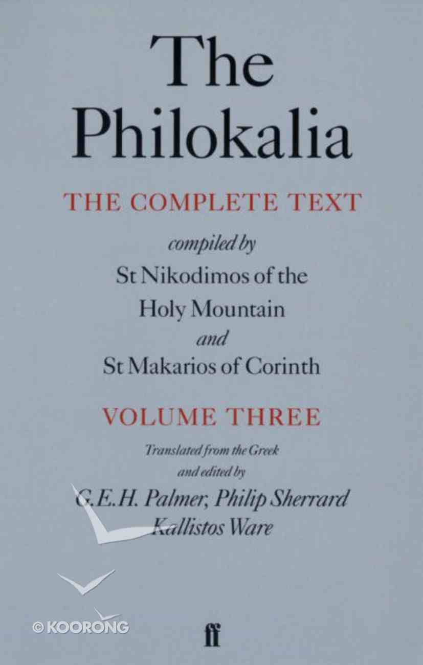 Philokalia (Vol 3) Paperback