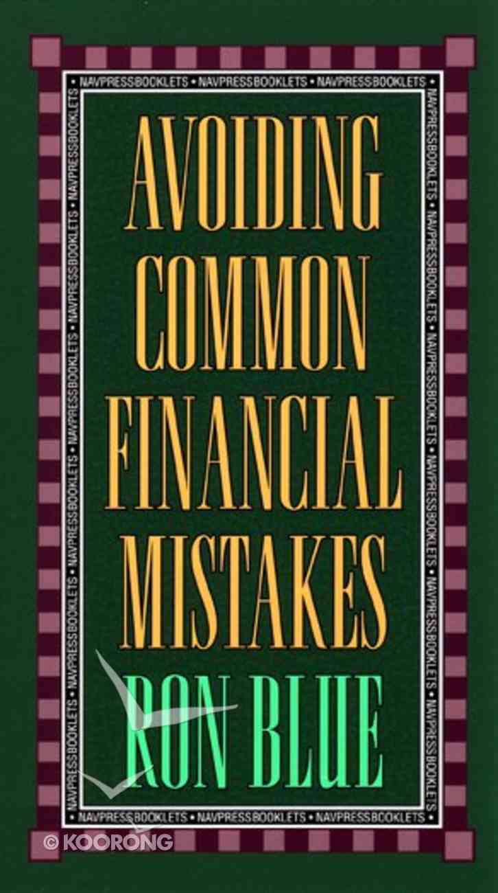 Avoiding Common Financial Mistakes Booklet