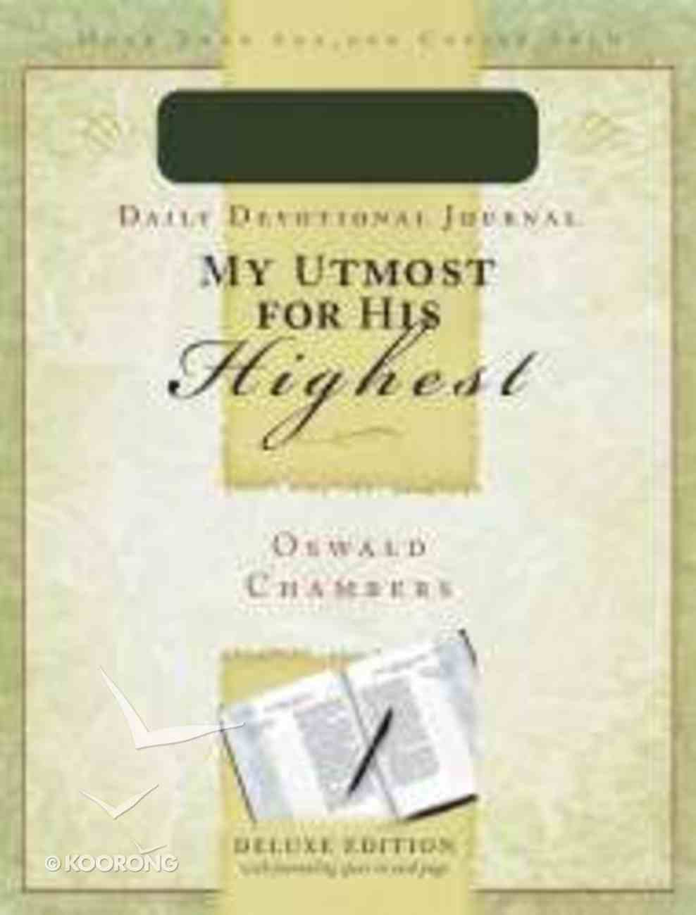 My Utmost For His Highest Daily Devotional Journal Imitation Leather
