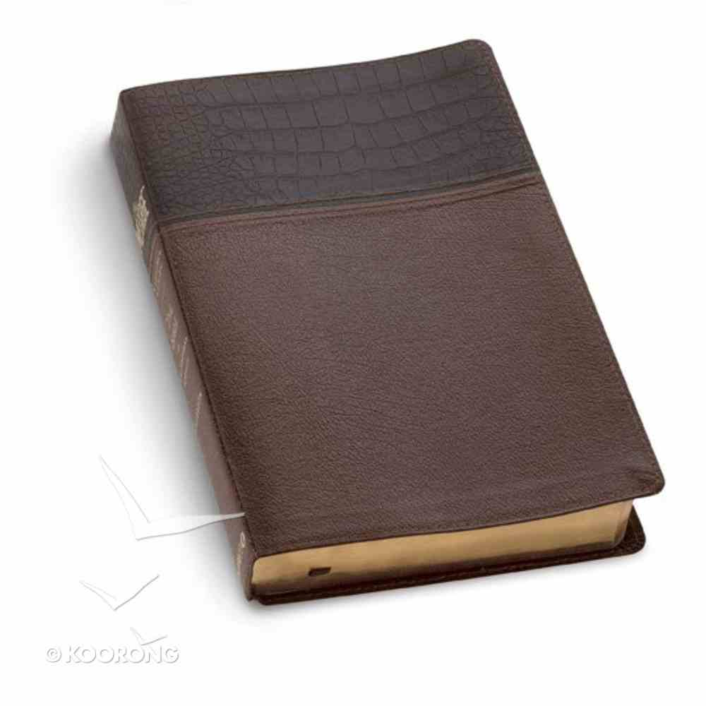 Message Numbered Edition Alligator Brown/Tan Bonded Leather