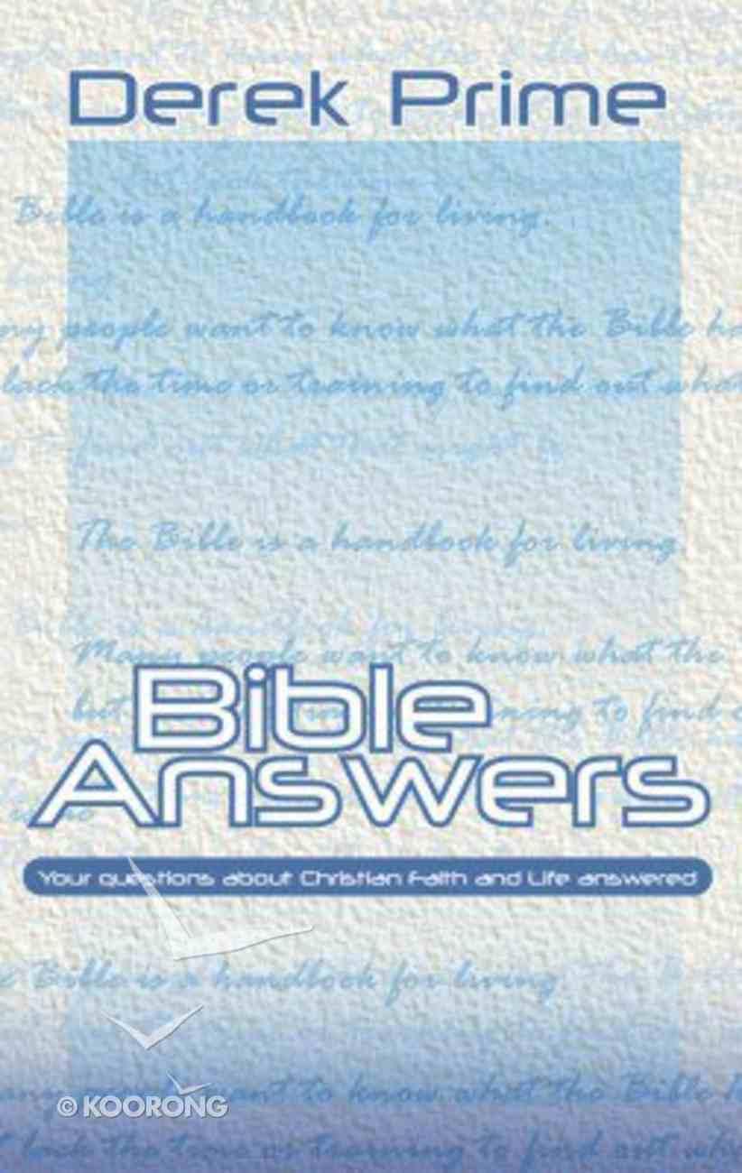 Bible Answers Hardback