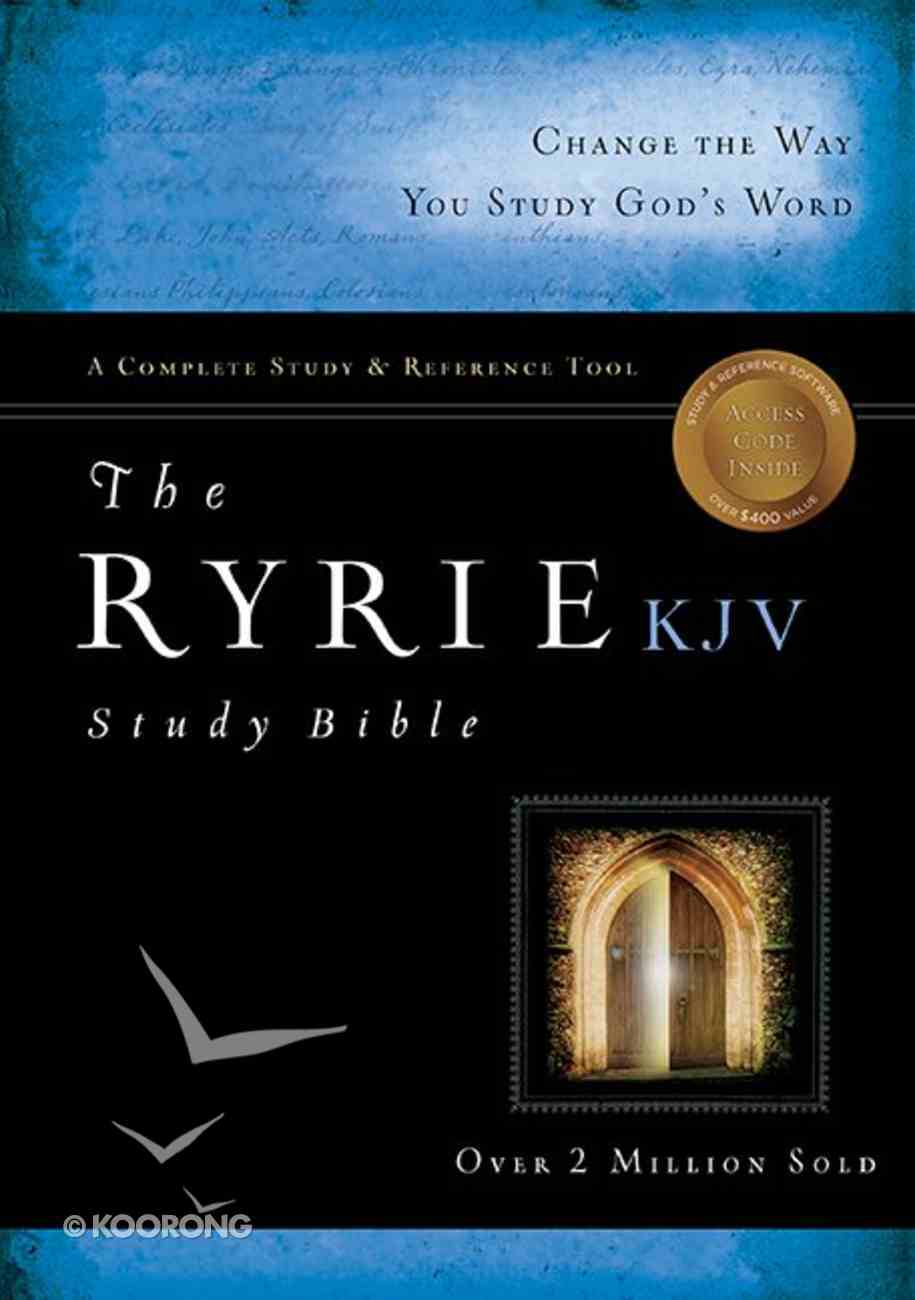 KJV Ryrie Study Bible Black Genuine (Red Letter Edition) Genuine Leather