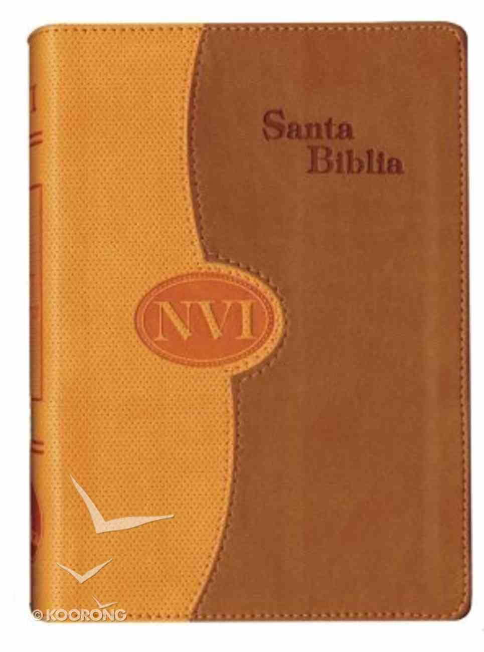 Nvi Santa Biblia Bicentenario/Nvi Duo-Tone Orange/Tan Imitation Leather