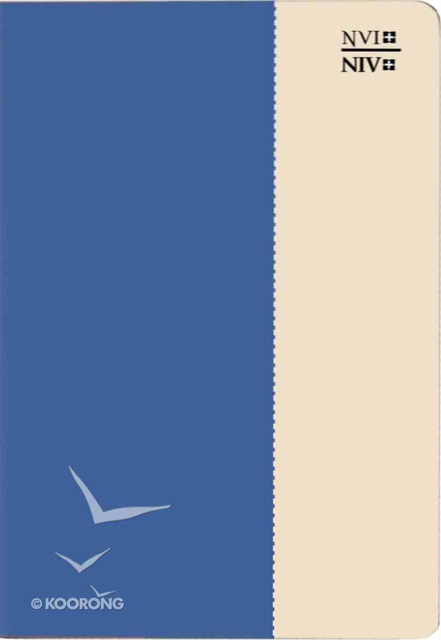 Nvi/Niv Biblia Bilingue Blue/Cream (Bilingual Bible) Imitation Leather