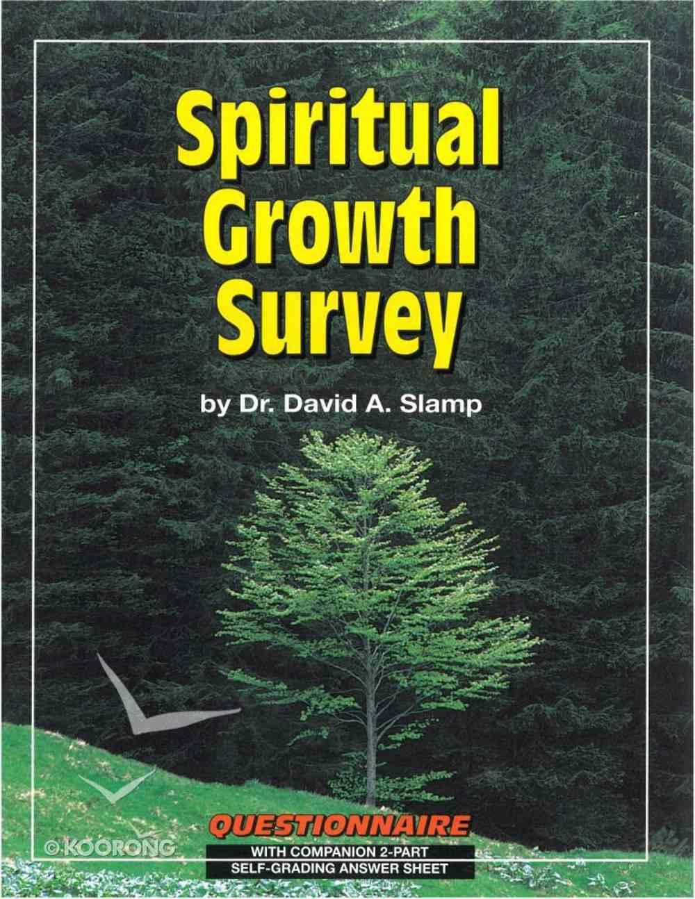 Team Ministry: Spiritual Growth Survey Paperback
