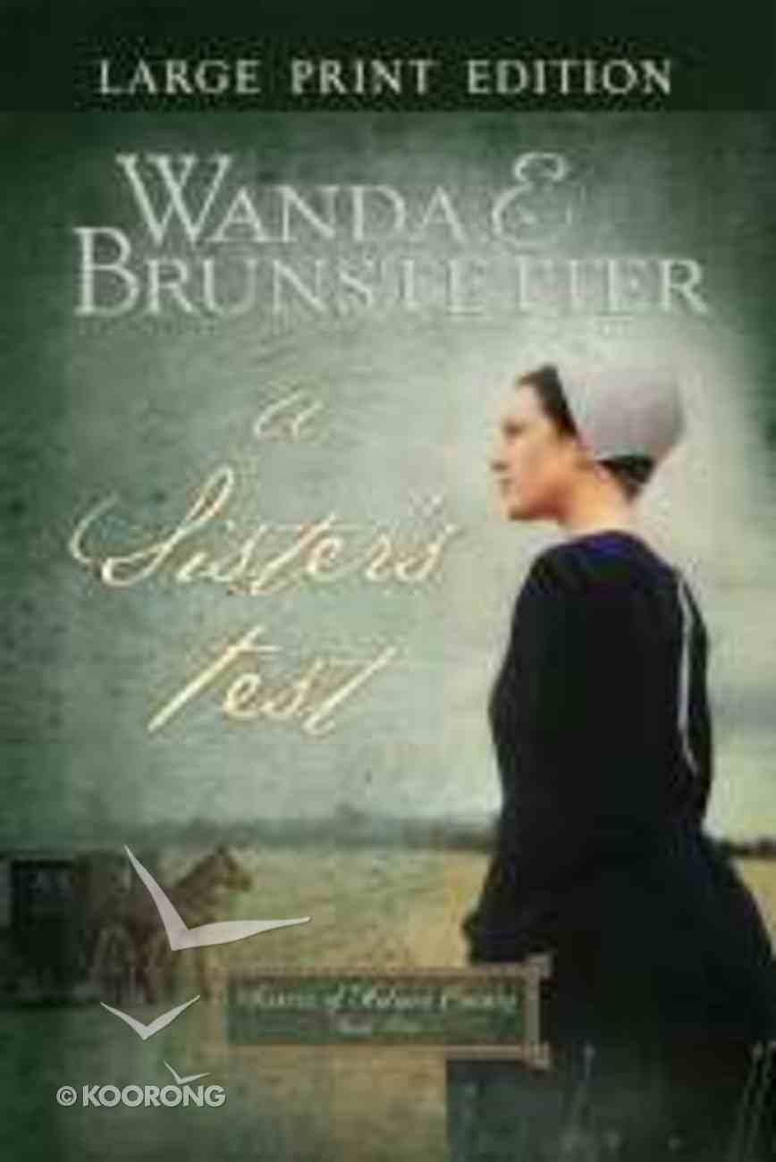 A Sister's Test (Large Print) (#02 in Sisters Of Holmes County Series) Paperback
