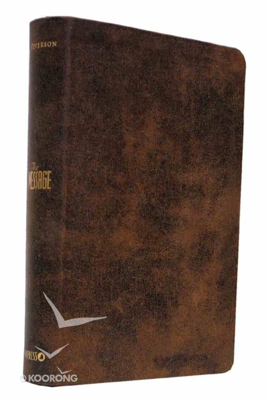 Message Numbered Personal Brown Distressed Leather-Look Imitation Leather