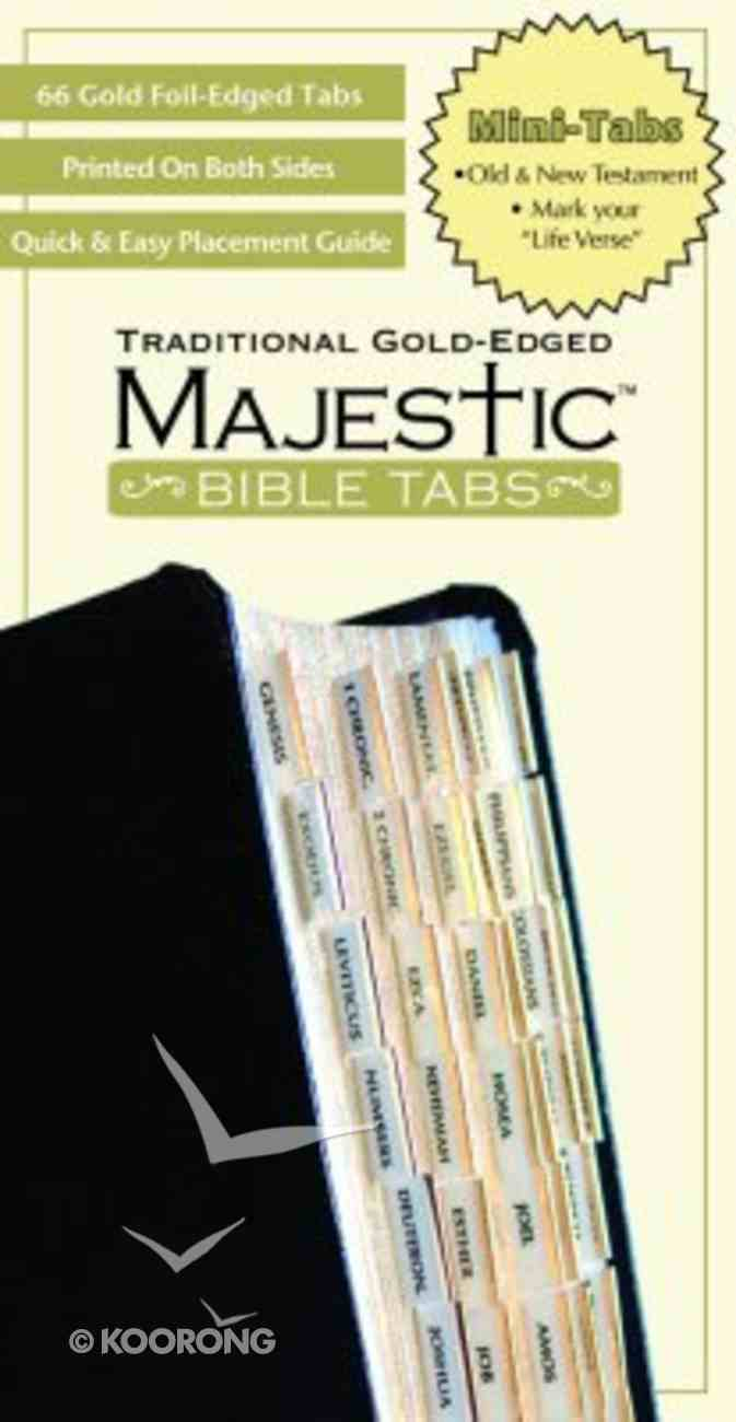 Majestic Bible Tabs Mini Traditional Gold Stationery