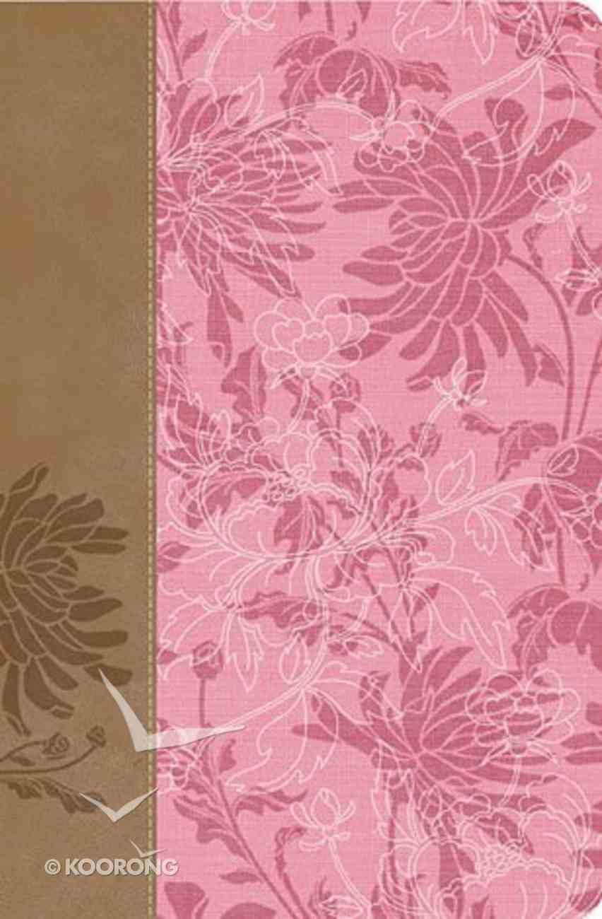 Rvr 1960 Biblia De Estudio Para La Mujer Cafe/Pink (Women Study Bible - Spanish) Premium Imitation Leather