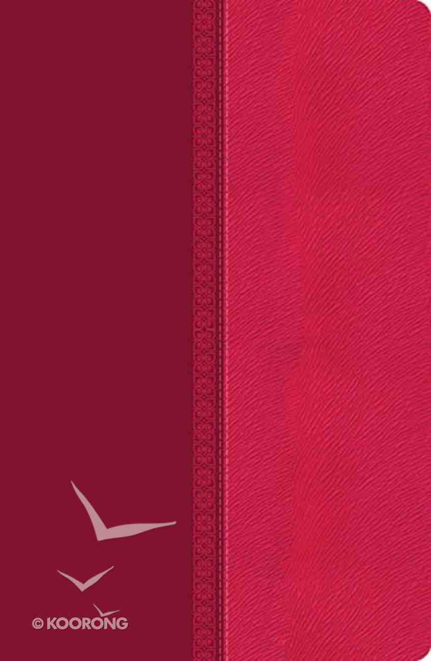 NKJV Giant Print Center-Column Reference Bible Pink (Red Letter Edition) Premium Imitation Leather