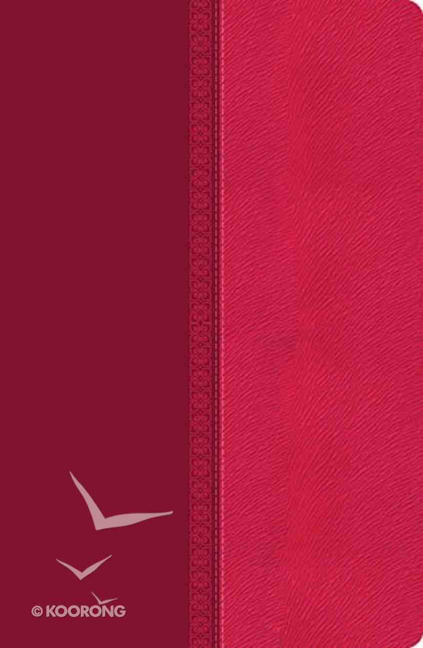 NKJV Giant Print Center-Column Reference Bible Pink (Red Letter Edition) Imitation Leather