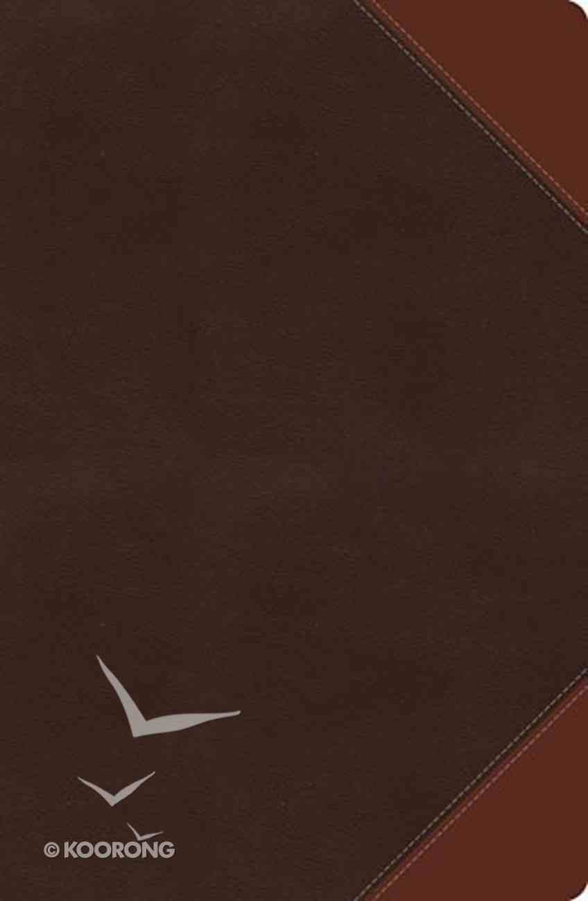 NKJV Giant Print Center-Column Reference Bible Rich Espresso/Auburn (Red Letter Edition) Imitation Leather
