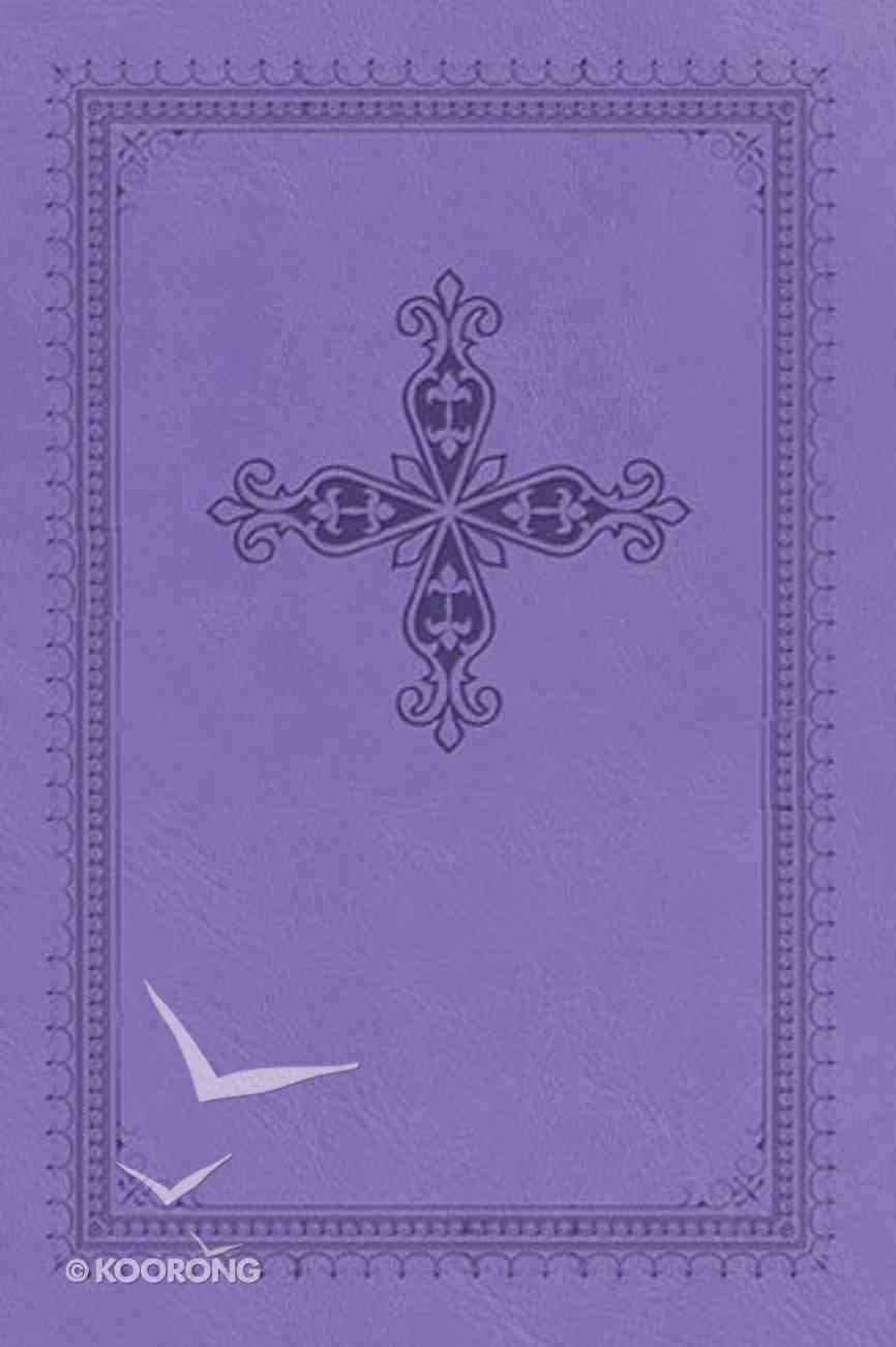 NKJV Ultraslim Bible Indexed Lilac With Cross (Red Letter Edition) Imitation Leather