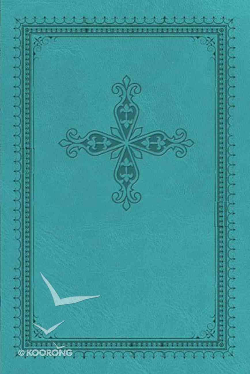 KJV Ultraslim Bible Blue With Cross (Red Letter Edition) Imitation Leather