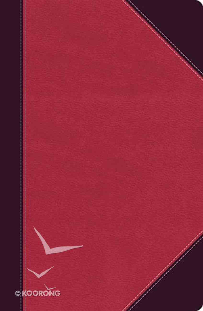 NKJV Ultraslim Reference Bible Indexed Raspberry/Mahogany (Red Letter Edition) Imitation Leather