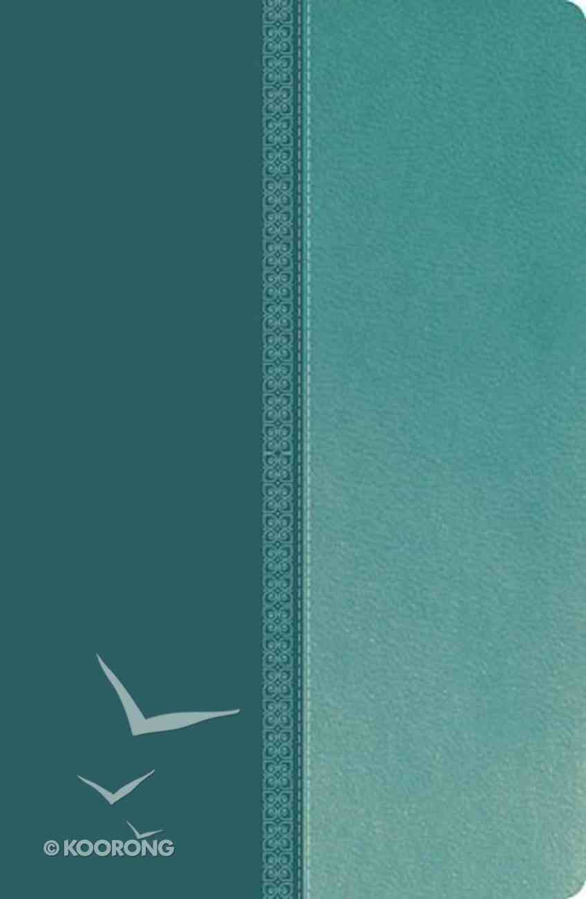 NKJV Ultraslim Reference Bible Tutone Blue Indexed (Red Letter Edition) Imitation Leather