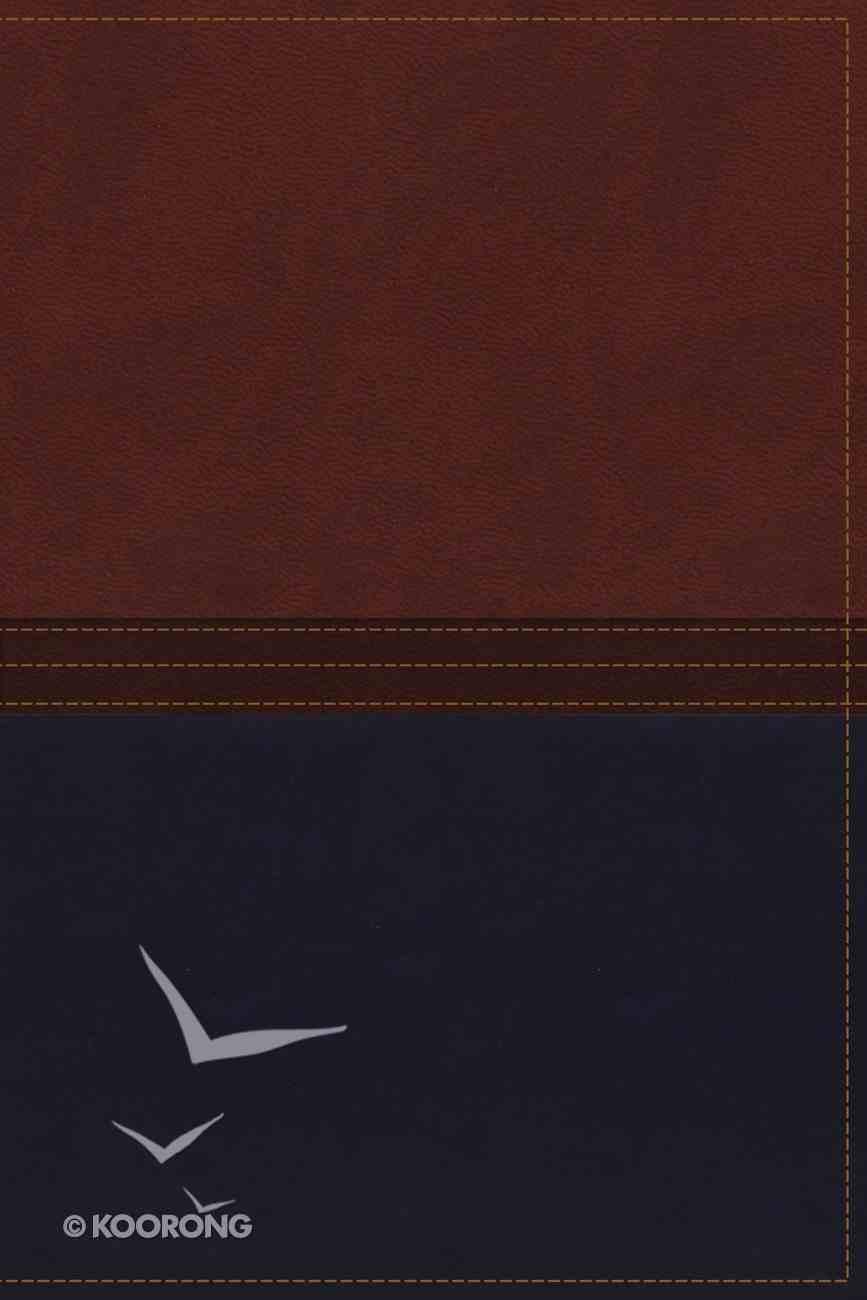 NKJV Macarthur Study Bible Auburn/Navy (Black Letter Edition) Premium Imitation Leather