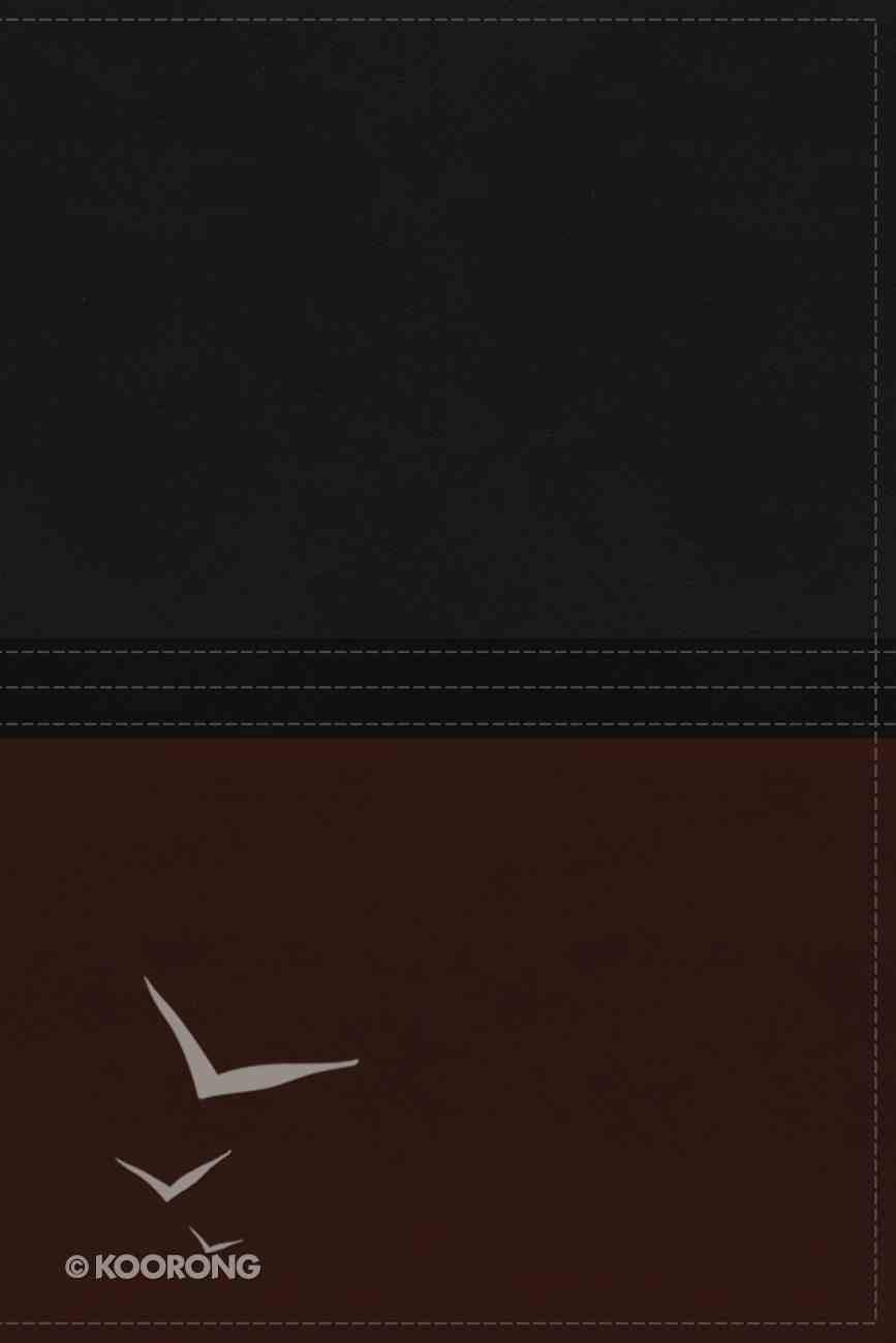 NIV Macarthur Study Bible Auburn/Black Premium Imitation Leather