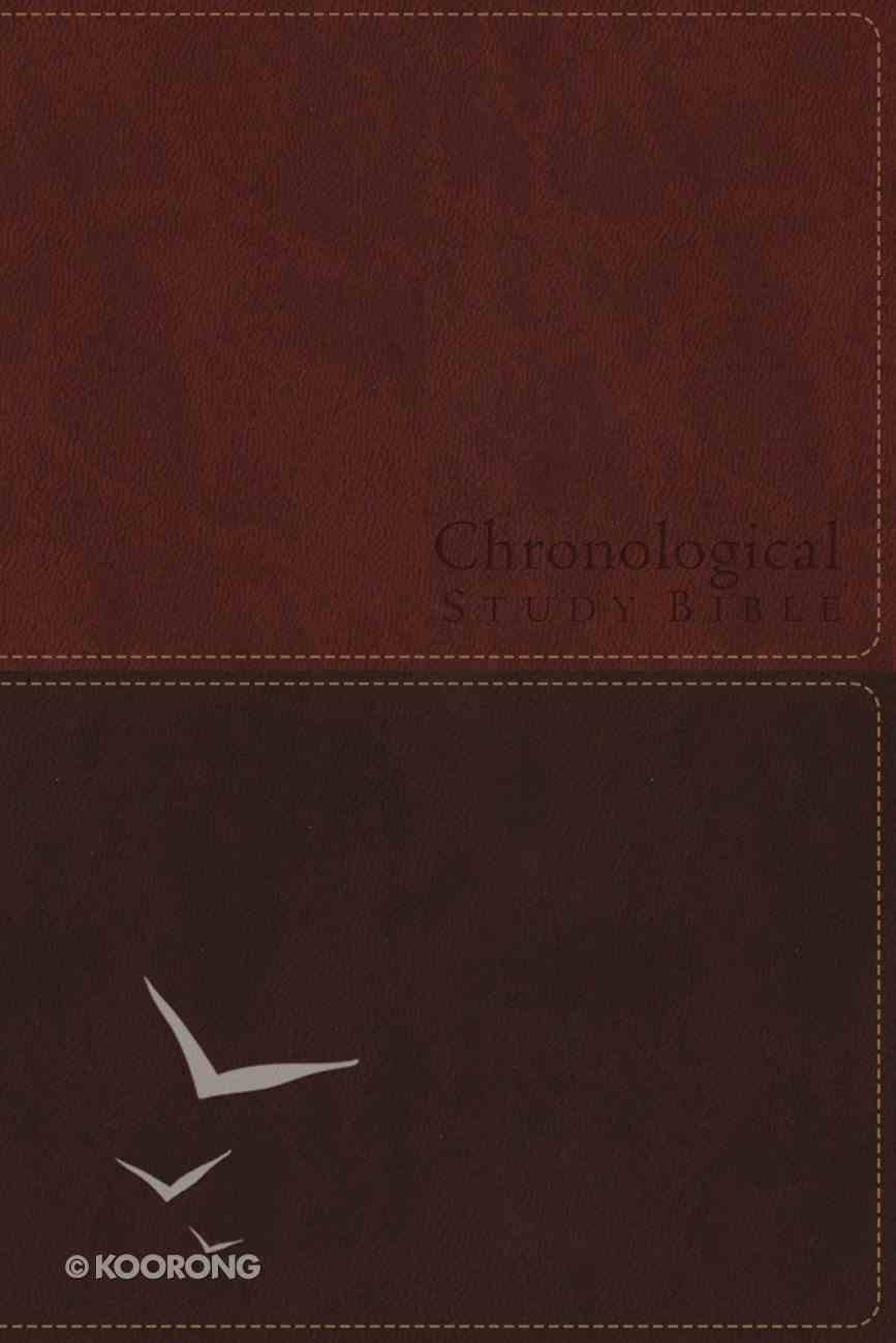 NKJV Chronological Study Bible Brown (Black Letter Edition) (Signature Series) Imitation Leather