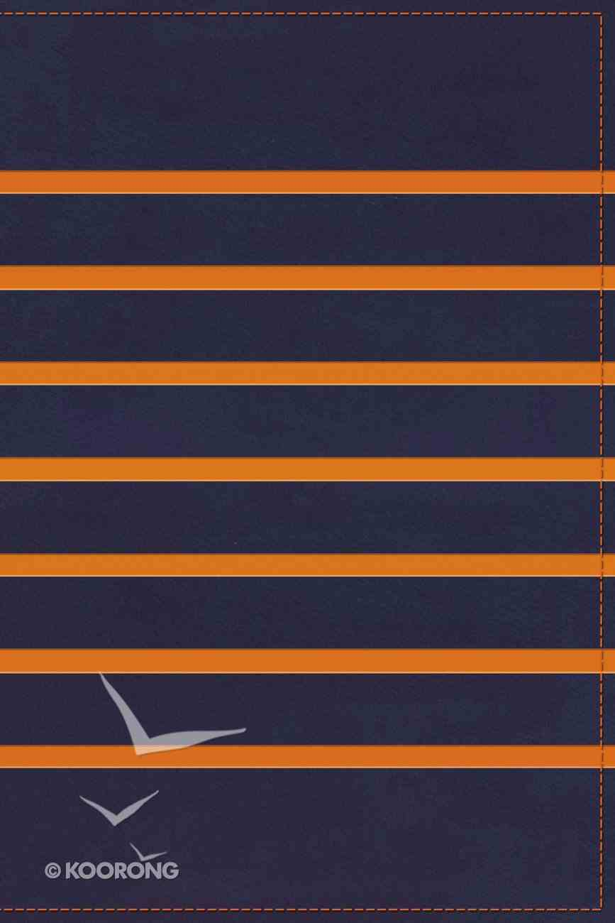 KJV Gift Bible Navy/Orange Stripe (Red Letter Edition) Premium Imitation Leather