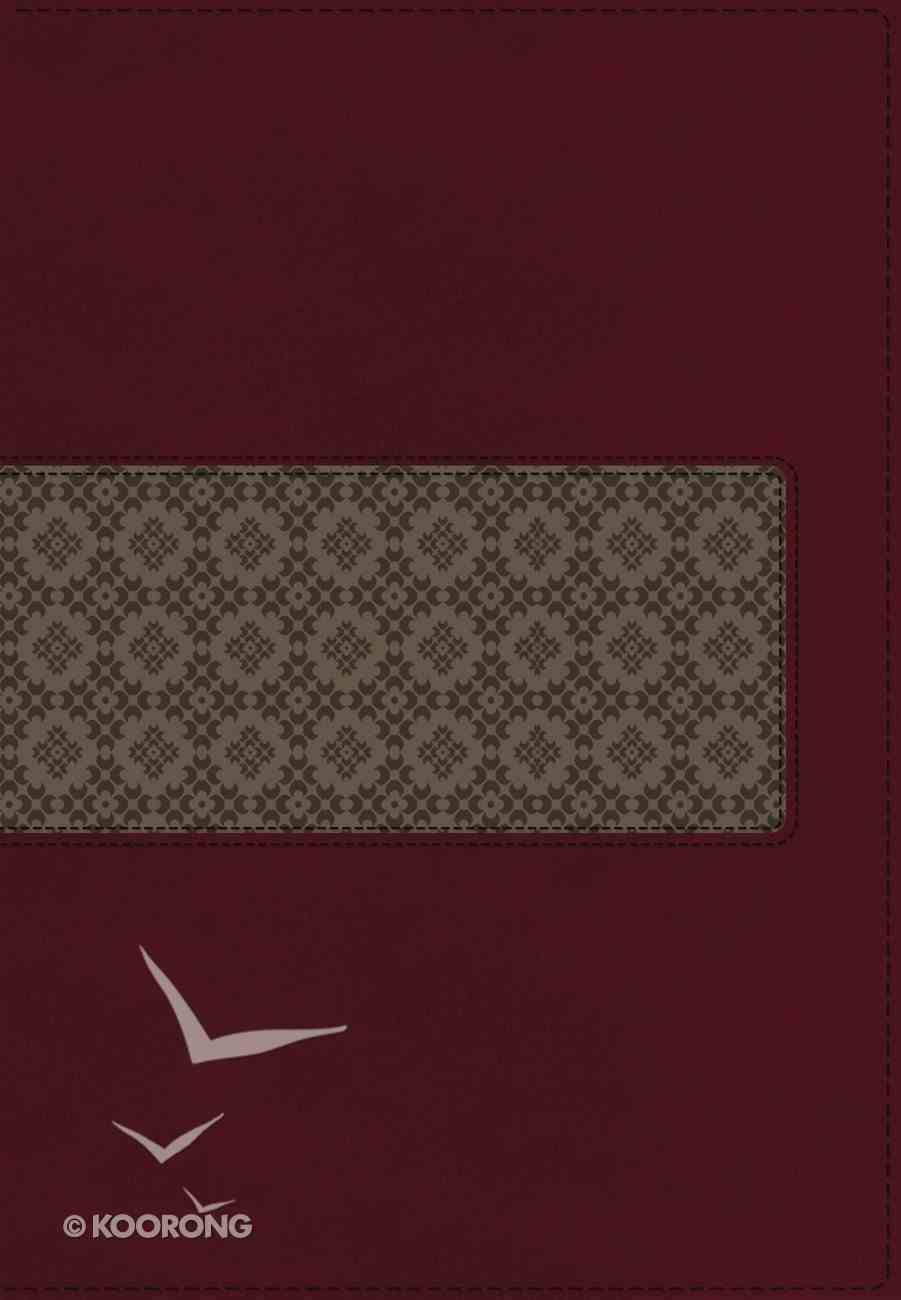 KJV Study Bible Indexed Rich Ruby/Warm Taupe (Red Letter Edition) Premium Imitation Leather