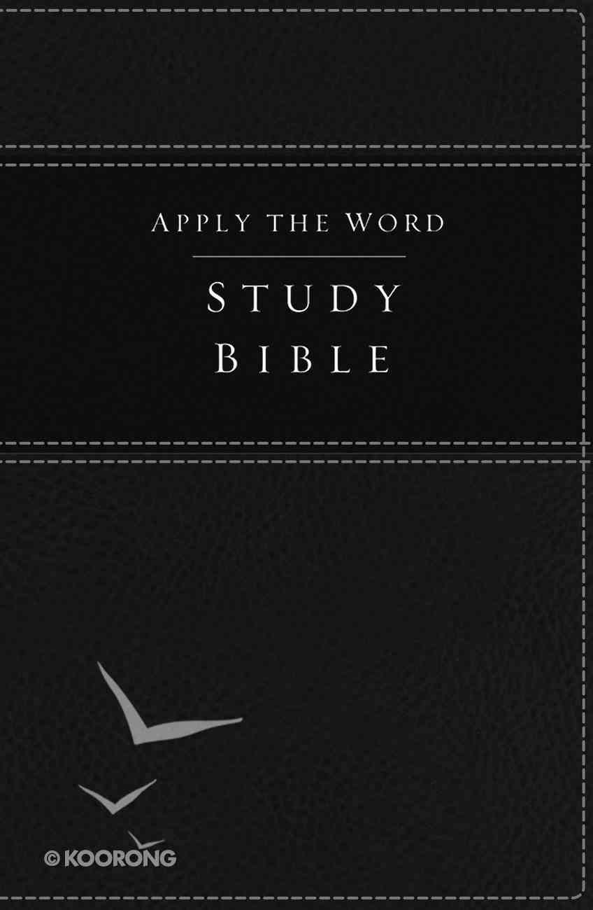 NKJV Apply the Word Study Bible Black (Red Letter Edition) Premium Imitation Leather