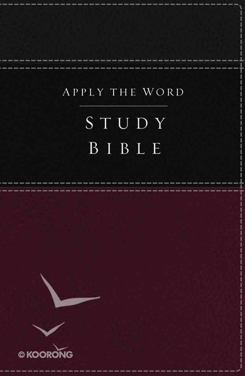 NKJV Apply the Word Study Bible Burgundy (Red Letter Edition) Premium Imitation Leather