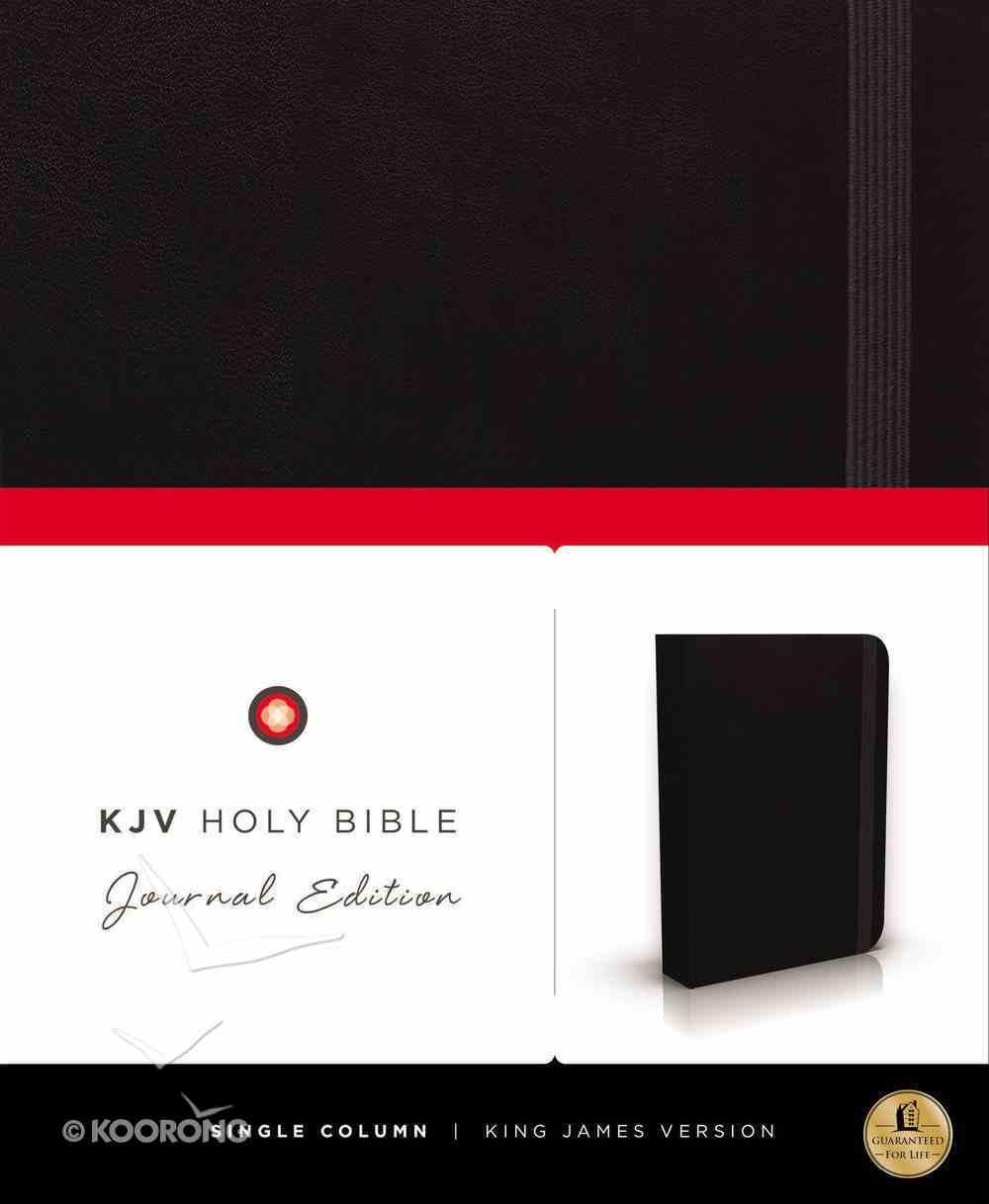 KJV Holy Bible Journal Black (Red Letter Edition) Hardback