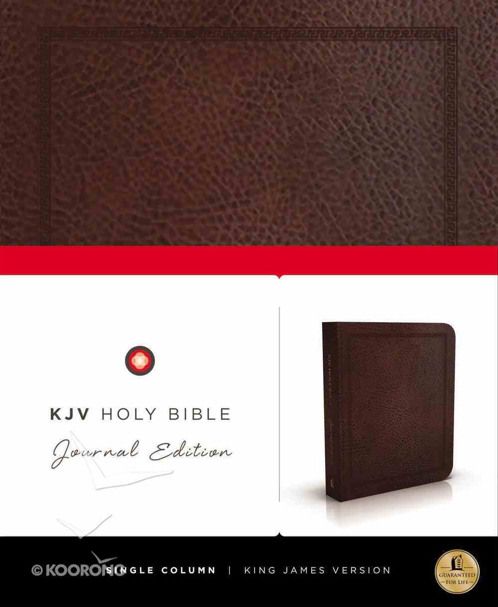 KJV Holy Bible Journal Brown Leathersoft (Red Letter Edition) Imitation Leather